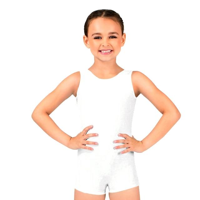 209073c23 Ensnovo Girls Kids Sleeveless Tank Top Biketard Lycra Spandex Ballet ...