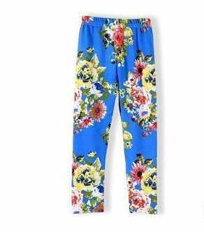 5 יח'\חבילה ברור המניה בנות 2019 סתיו פרח חותלות תינוקת סקיני הדפסת מכנסיים משלוח חינם