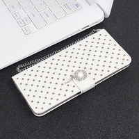 Luxury Bling Cover Case For Apple IPhone 5 Leather Flip Wallet Stand Bag Crystal Rhinestone Diamond