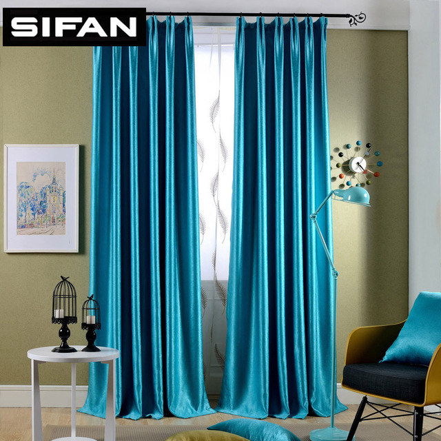 Sparkle Blue Yellow Pearl Cashmere Blackout Curtains For Living Room The Bedroom