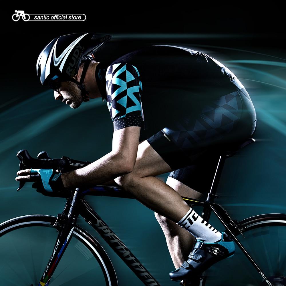 Santic мужские Велоспорт мягкий короткие наборы прибылью импортные ткани CARVICO Импорт коврик M1507 Велоспорт одежда костюмы M7C02119/M7C05092