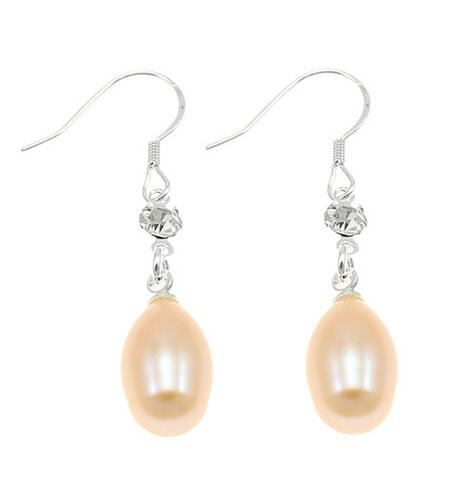 1 unique wedding woman wedding natural natural mother pink pearl freshwater earrings natural jewelery charm earrings