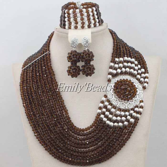 Fashionable Indian Wedding Jewelry Sets Red African Beads Jewelry