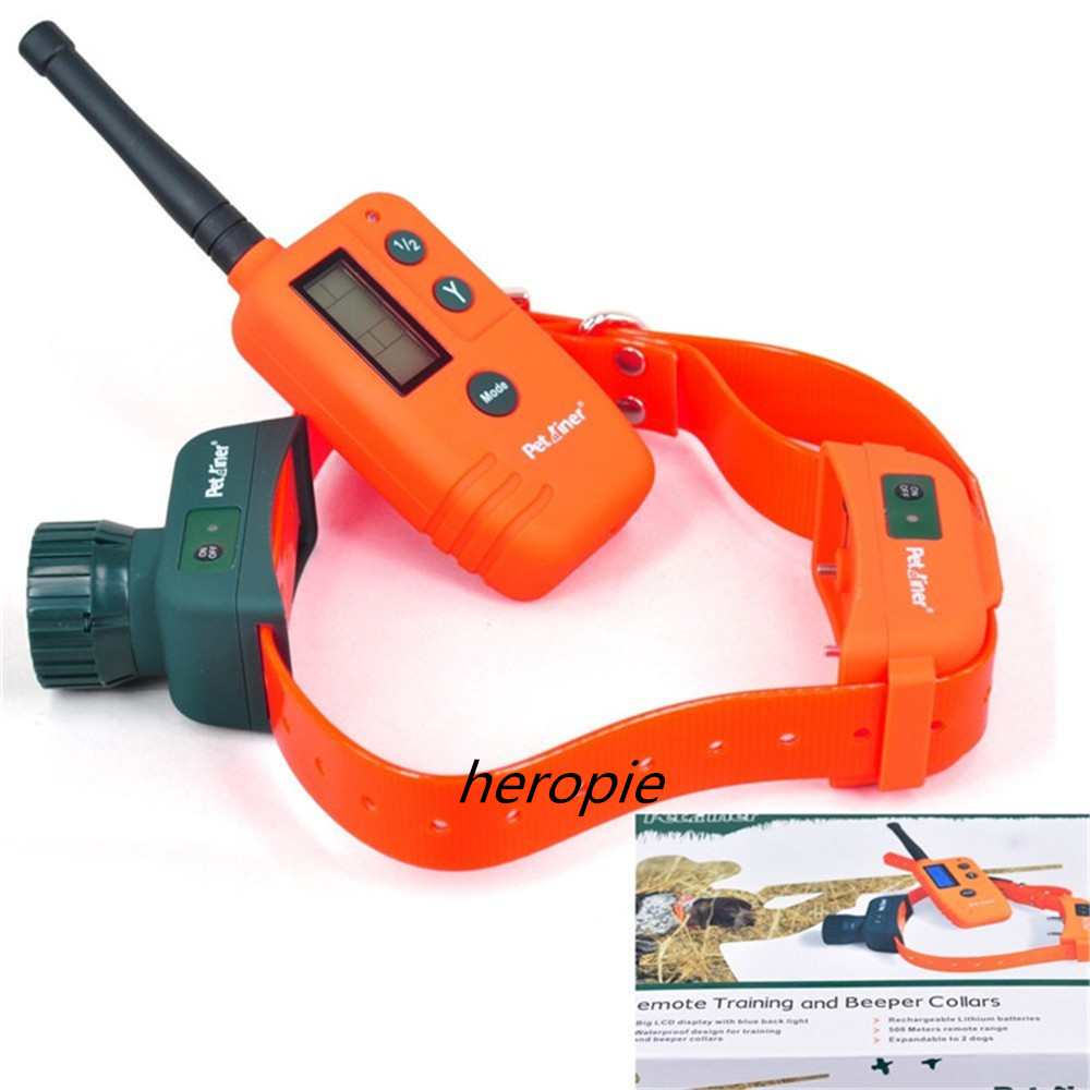 HOT Rechargeable Waterproof Hunting Electric Dog TrainingCollar With LCD Display 500M Range Remote Manual Control Pet Collar