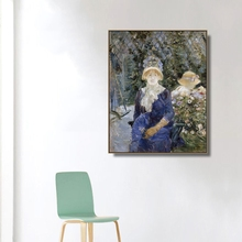 Woman in a Garden by Morisot Wall Art Poster Print Canvas Painting Calligraphy Decorative Picture for Living Room Home Decor