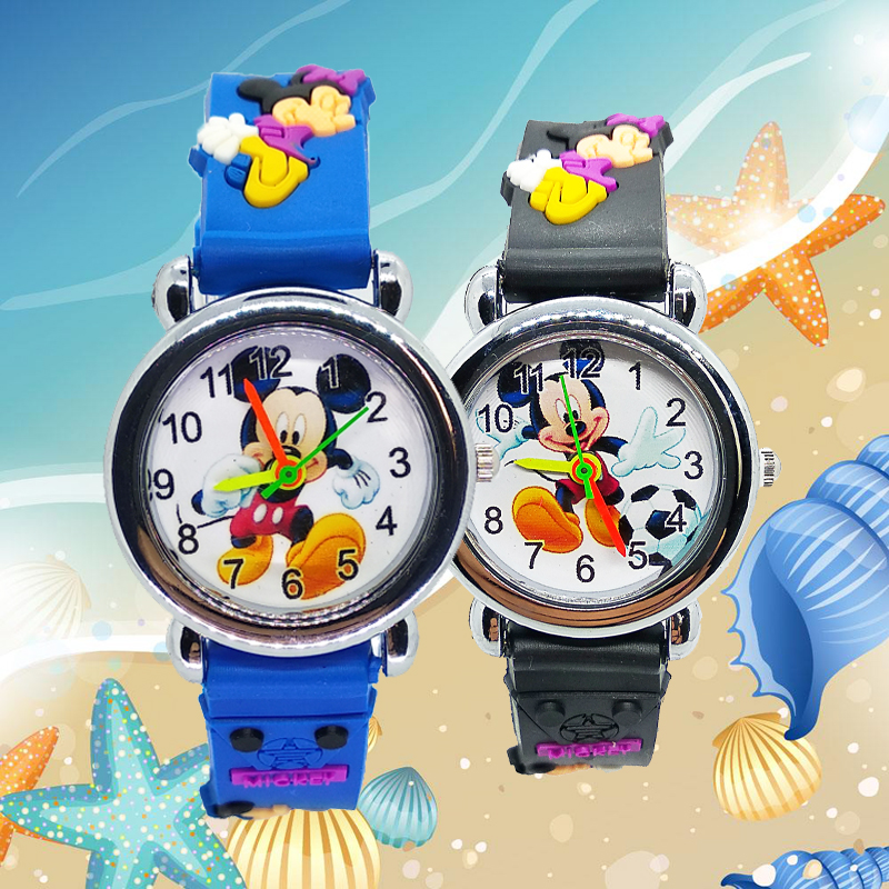 New 4 Style Mix Mickey Snail Duck Giraffe Kids Watches Silicone Band Girls Children Watch Boys Student Clock Quartz Wristwatches