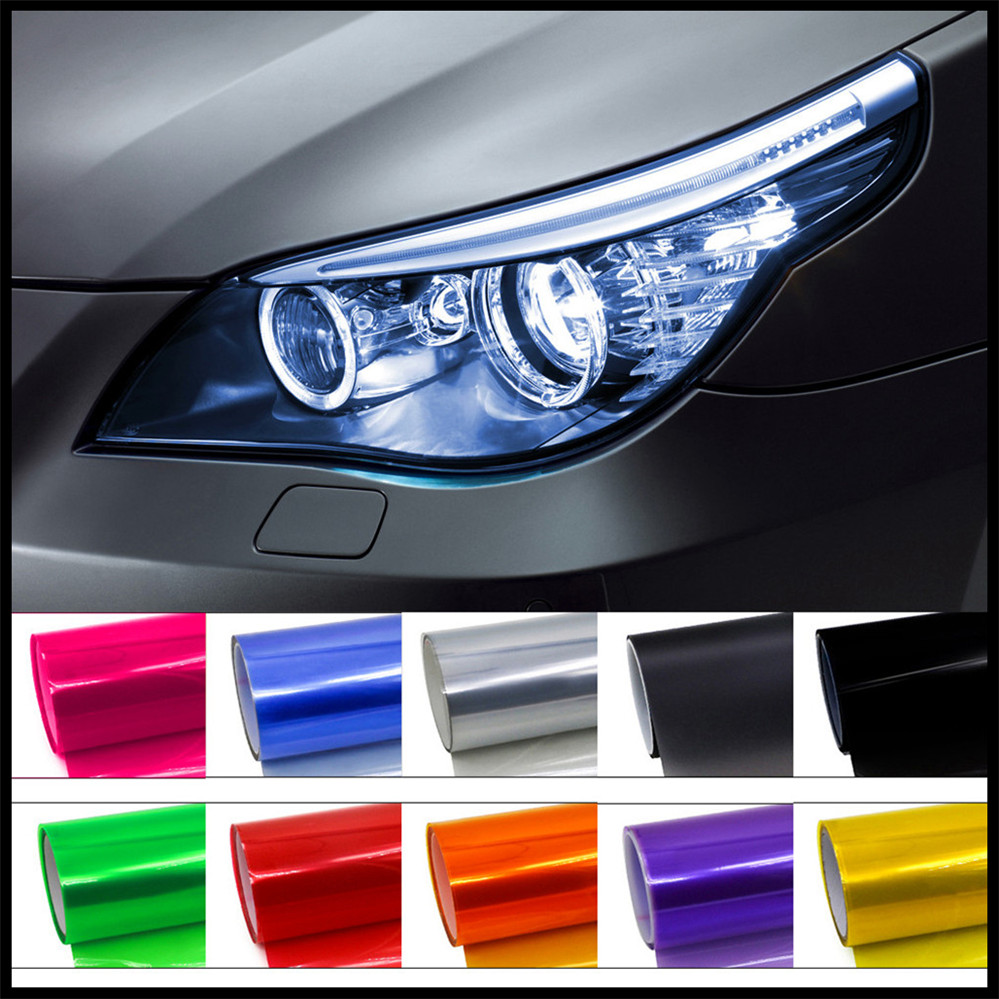 Car HeadLight Lamp TialLight Decor Vinyl Film Sticker Decal For BMW E46 E39 E38 E90 E60 E36 F30 F30