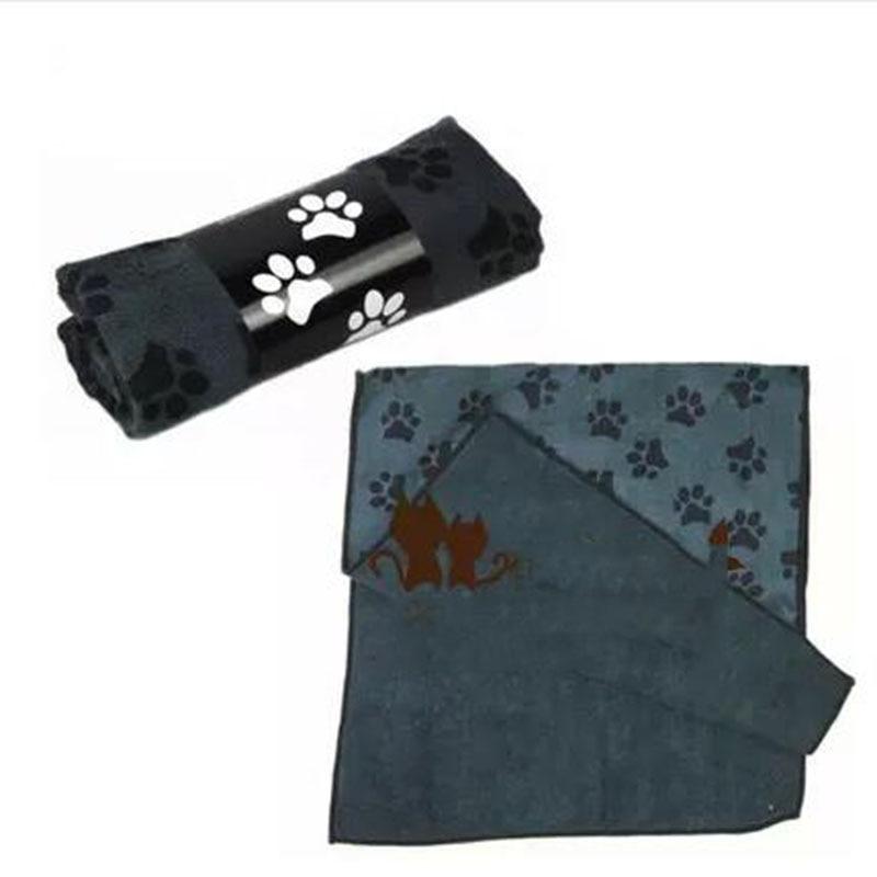 Perro Animal Print Paw Pequeña Mediana Gatos de Secado rápido de Microfibra Toal