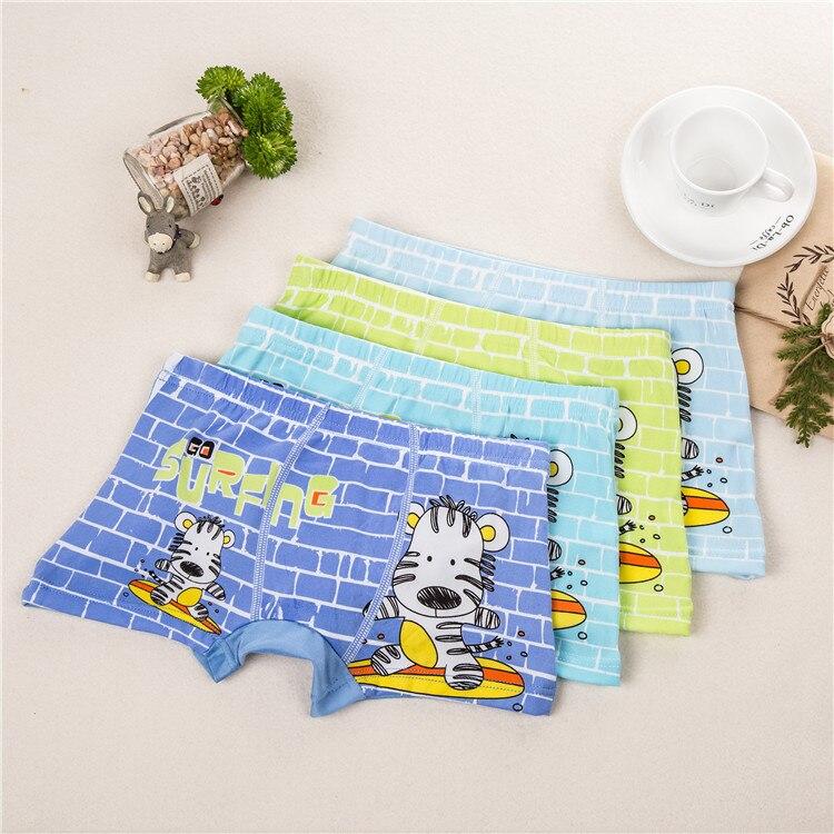Cartoon Print Animal Zebra Childrens Underwear Cow Boy Underwear Flat Boxer Wearing Boxer Shorts Boy Underwear Four Seasons Fit