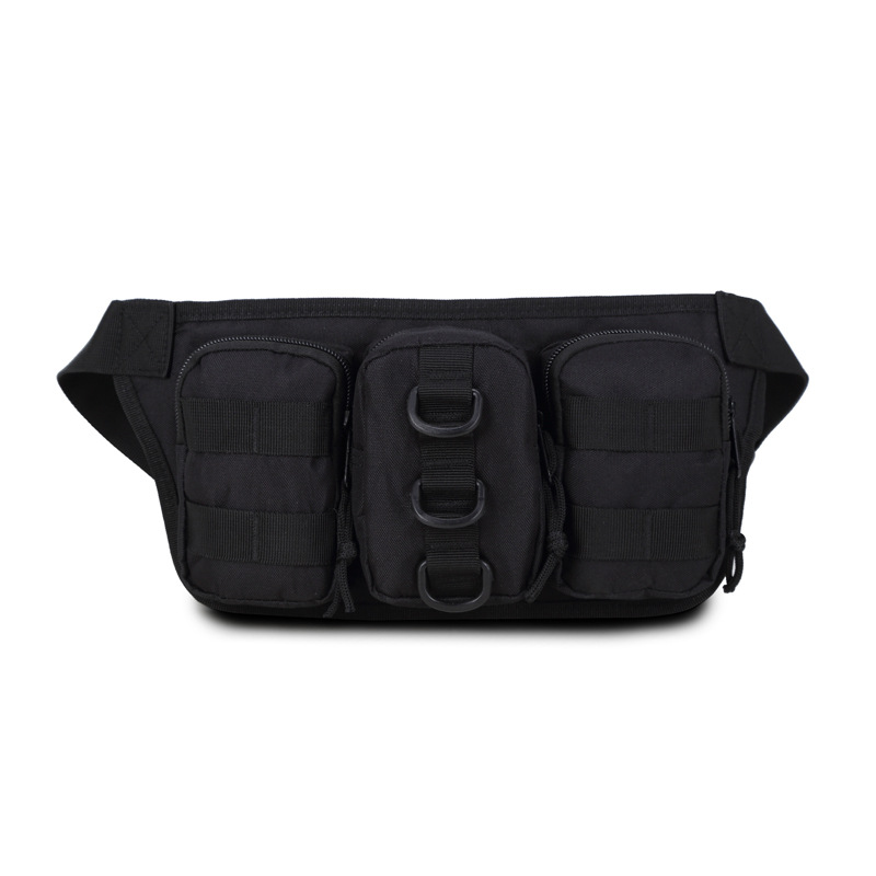 Hot sales Vice Pocket Multi-function Bag Pouch Money Phone Men Casual Waist Packs Waterproof Nylon Waist Bag Feminina Black YB12