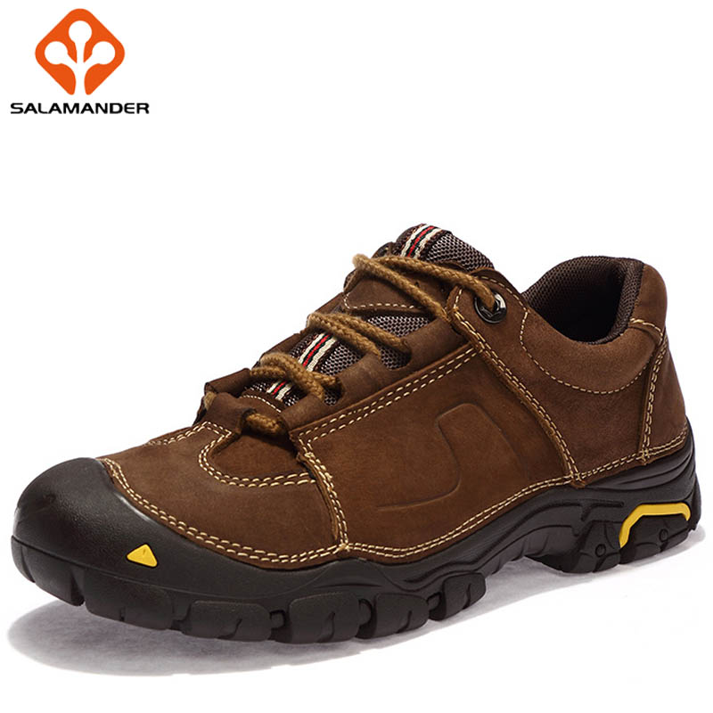 SALAMANDER Spring 2018 New Hiking Shoes Man Brand Camping Shoes Men's Sneakers Mountaineering Outdoor Athletic Hunting Trekking yin qi shi man winter outdoor shoes hiking camping trip high top hiking boots cow leather durable female plush warm outdoor boot