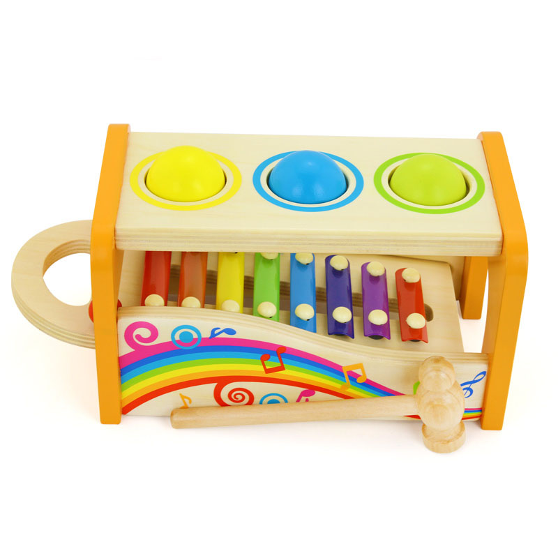 Baby Toys Multifunctional Knock Piano Wooden 8 Sounds Knock Tables Early Childhood Educational Toys for Children children s early childhood educational toys the bear change clothes play toys creative wooden jigsaw puzzle girls toys
