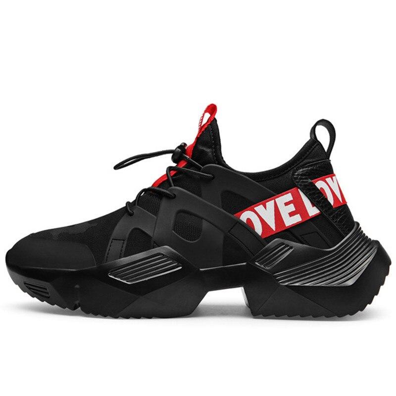 Sneakers Men Vulcanized-Shoes Anti-Slip Black White New Upper Lycra Zapatillas Trendy