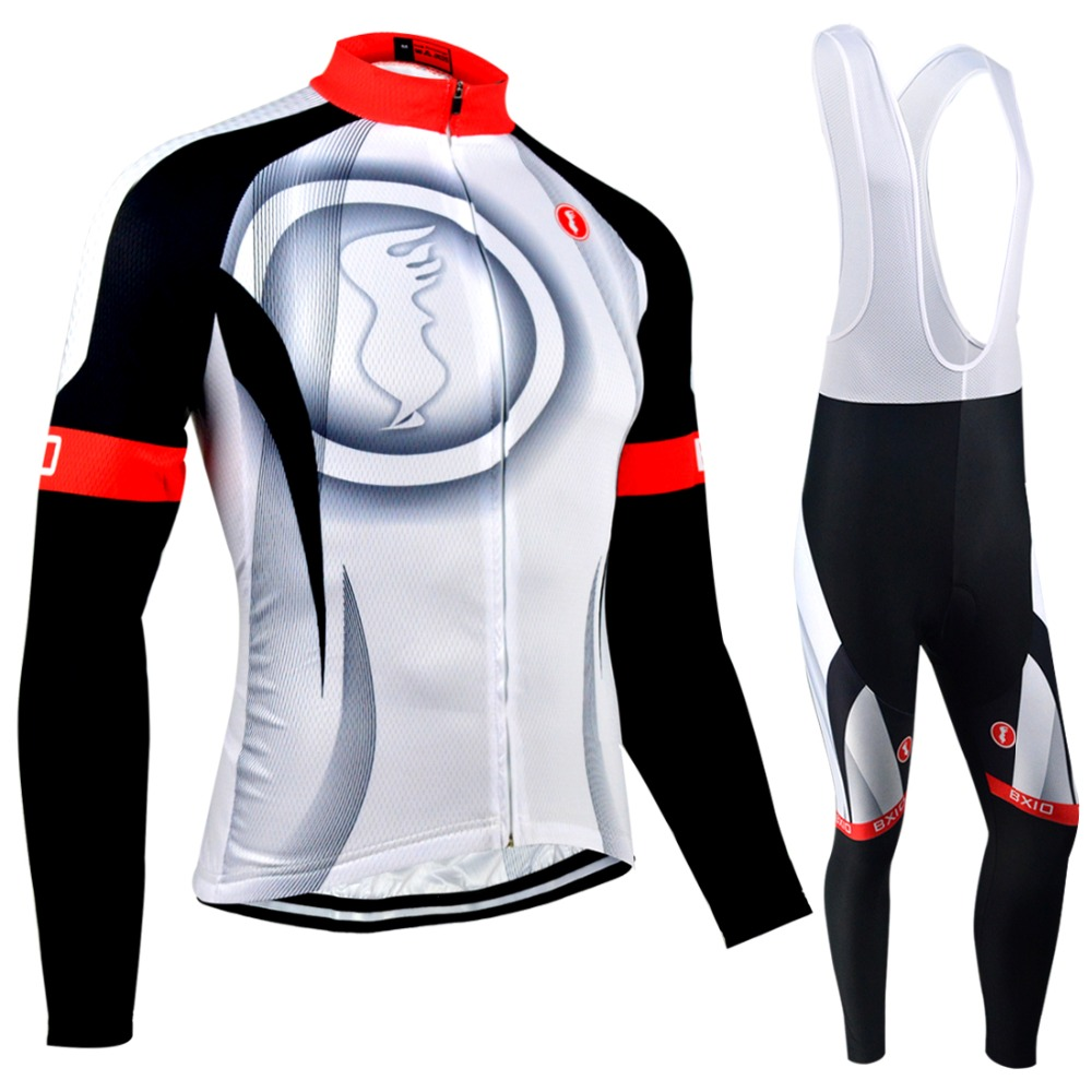 BXIO Winter Thermal Fleece Cycling Jerseys Bike Clothing Ropa Ciclismo Bicycle Clothes Long Sleeves Bretelle Ciclismo Italia 073 black thermal fleece cycling clothing winter fleece long adequate quality cycling jersey bicycle clothing cc5081