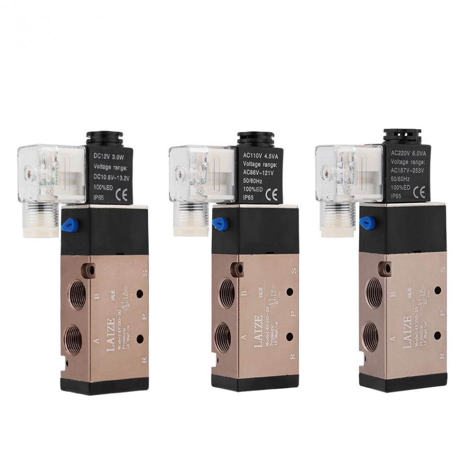 Ventil Sanitär Methodisch 1 Stück 1.2mpa Elektrische Magnet Magnetische Luft Ventil 5 Port 2 Position 3/8