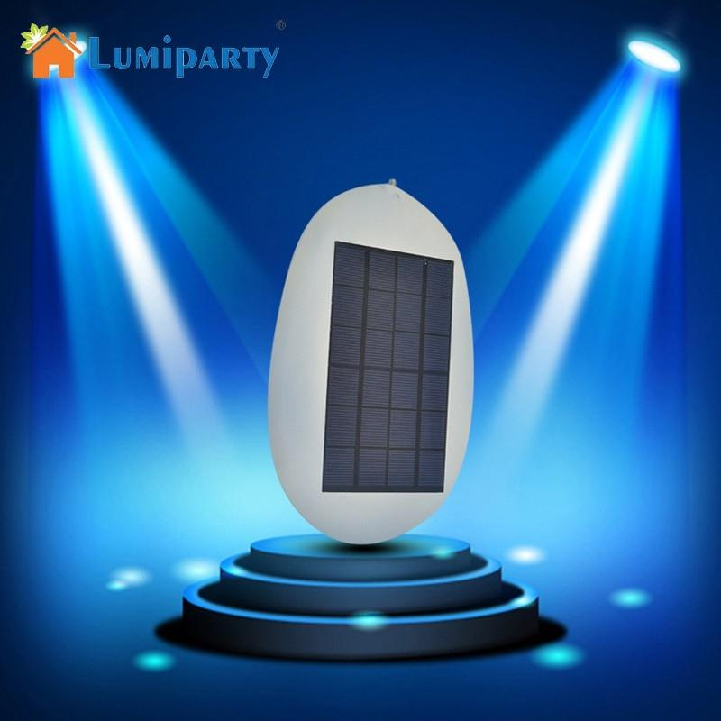 LumiParty Super Bright Solar-Powered LED Wall Lamp Outdoor Yard Street Light Waterproof Light Sensor