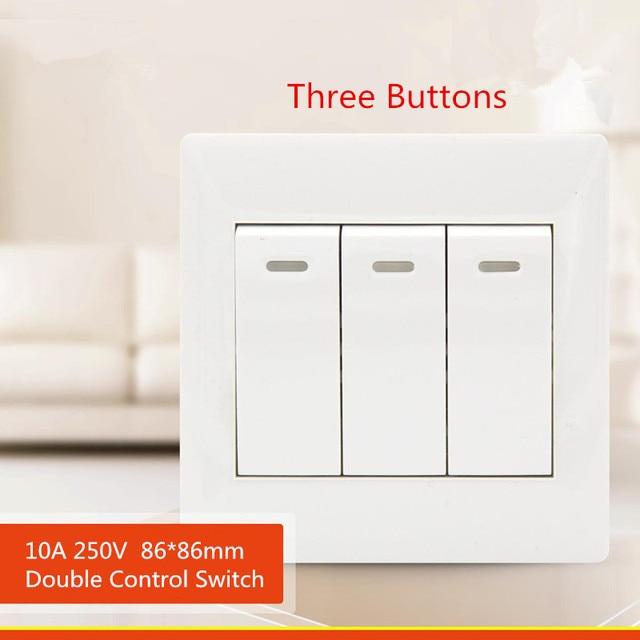 1PCS YT1802 White Switch Panel 86*86MM Flush Receptacle Three ...