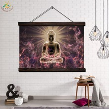 Sparkling Buddha Single Modern Wall Art Print Pop Picture And Poster Frame Hanging Scroll Canvas Painting Home Decoration