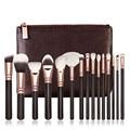 New Professional 15 PCS Pro Makeup Brushes Set Cosmetic Complete Eye Kit + Case