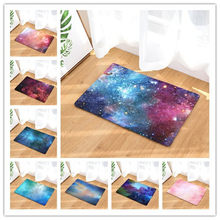 Flannel Floor Mats Galaxy 2 Printed Bedroom Living Room Carpets Cartoon Pattern Mat for Hallway Anti-Slip Tapete(China)