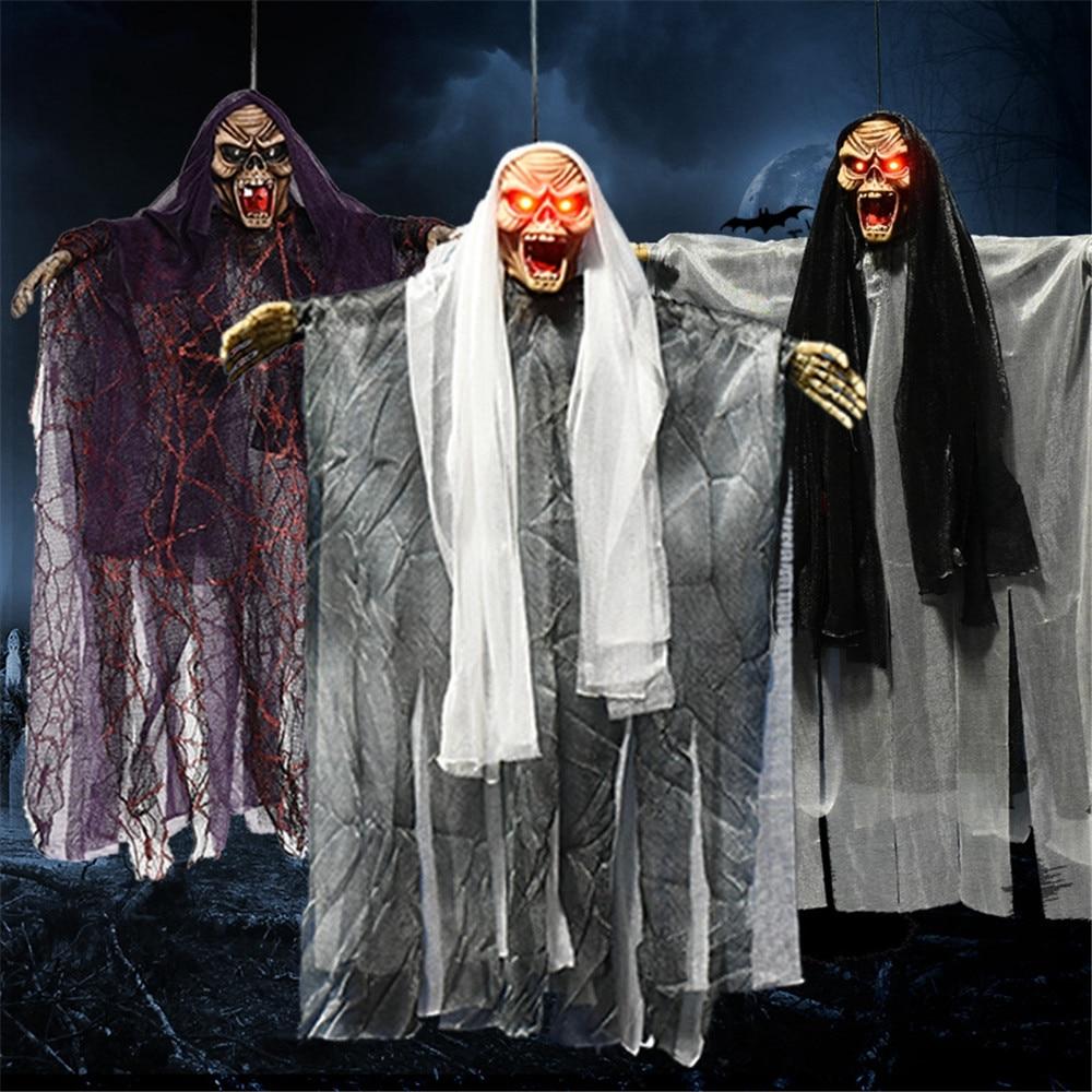 Long Haired Voice Control Halloween Door Decoration