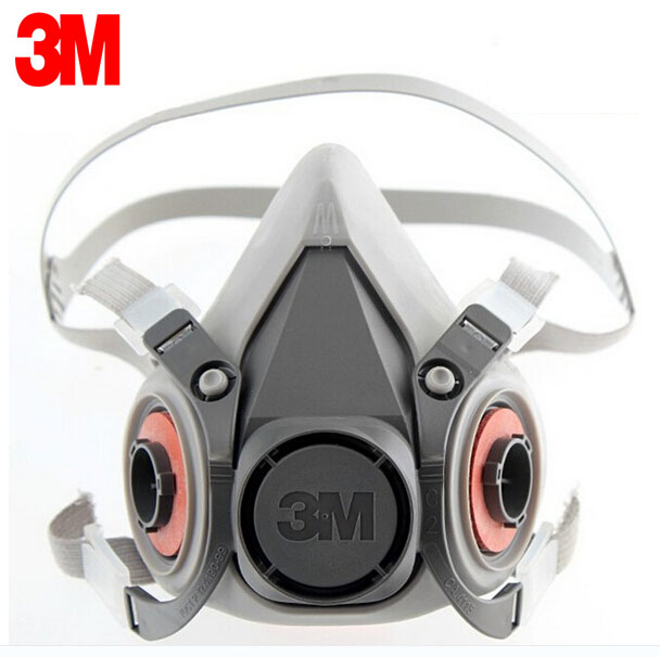 3M 6100 Mask Respirator Reusable Half Face Mask Respirator Economical Low-maintenance Simple Handle Extremely Lightweight LT077 protective outdoor war game military skull half face shield mask black