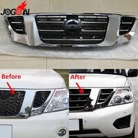 Для Nissan Patrol Y62 2011 2016 стайлинга автомобилей спереди лица центр гонки гриль замены старой до новой версии ABS