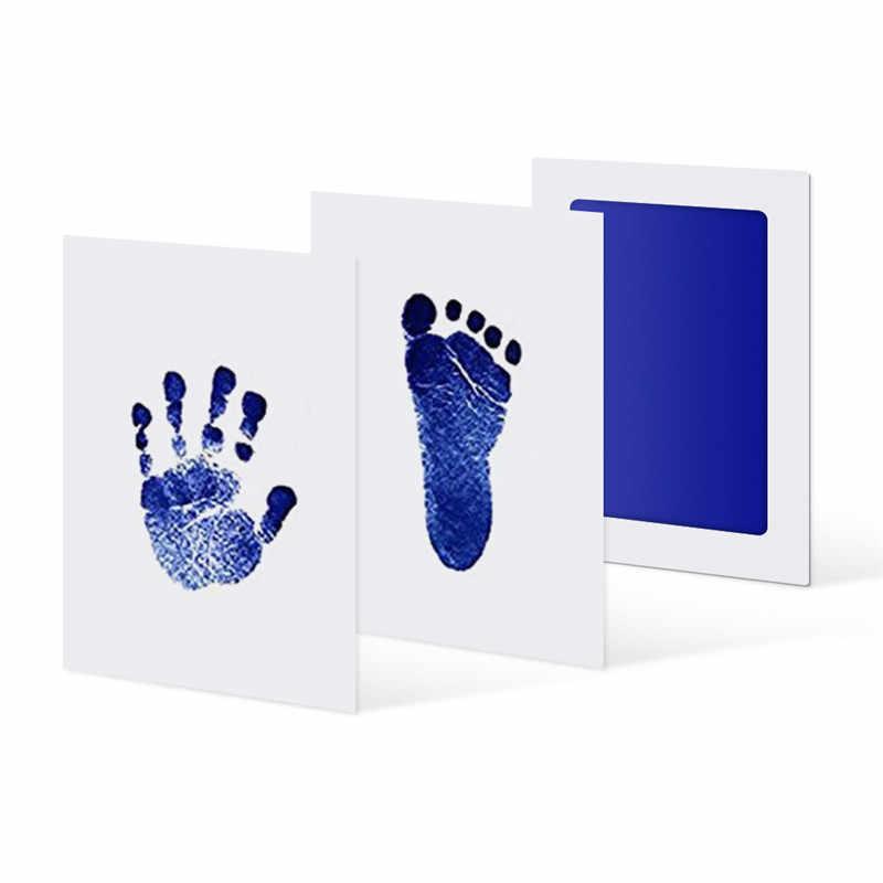 6 สีเด็ก Care ปลอดสารพิษ Handprint Kit Imprint รอยเท้าพิมพ์เด็กของที่ระลึกทารกแรกเกิดเบาะหมึกรอยเท้าทารกของเล่น