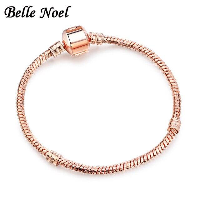 Bien connu BELLE NOEL Serpent Chaîne D'origine Bracelet Femme Jonc Or Rose  IM22