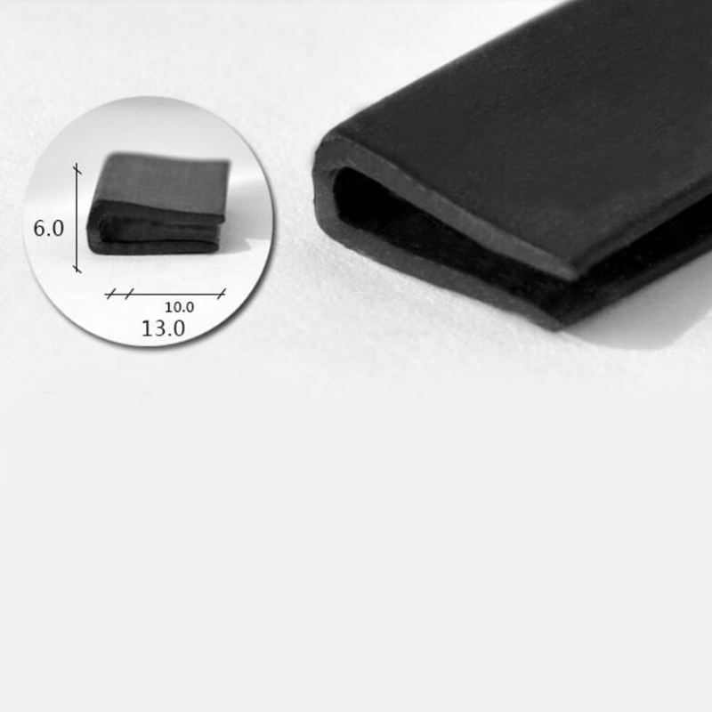 13 mm x 2 mm channel strip Extruded EPDM  Rubber Strip by the meter