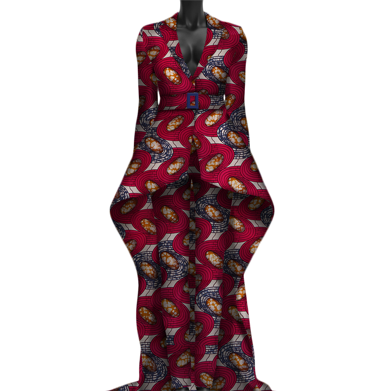 Africain Robes pour Femmes 2019 Nouvelle Robe À Manches Longues avec Mince Pantalon Nouveauté Batik Cheville Longueur Robe Africaine