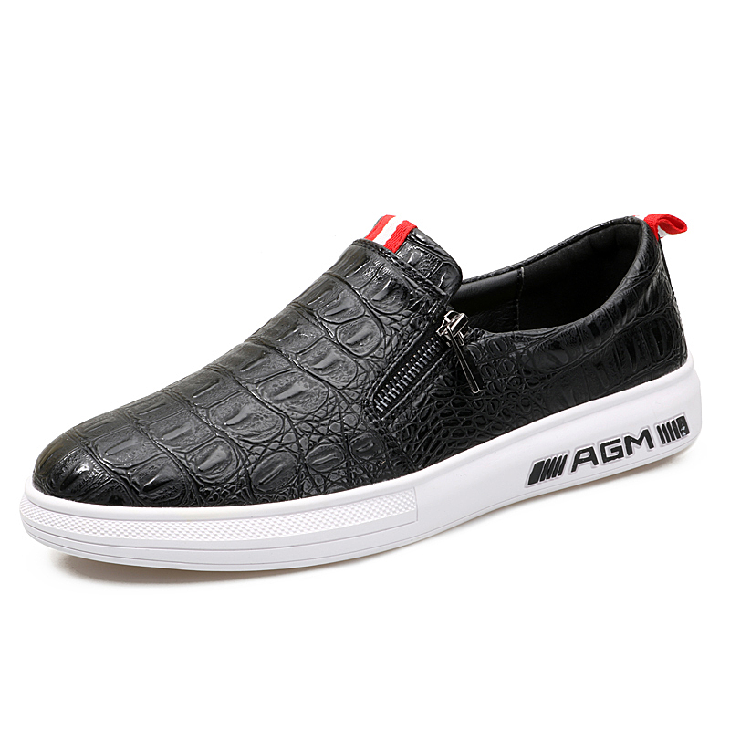 baca32455d0a New Designer Shoes Black Leather Sneakers Casual Shoes Men s Loafers on Men  Flats Shoes Moccasins Men