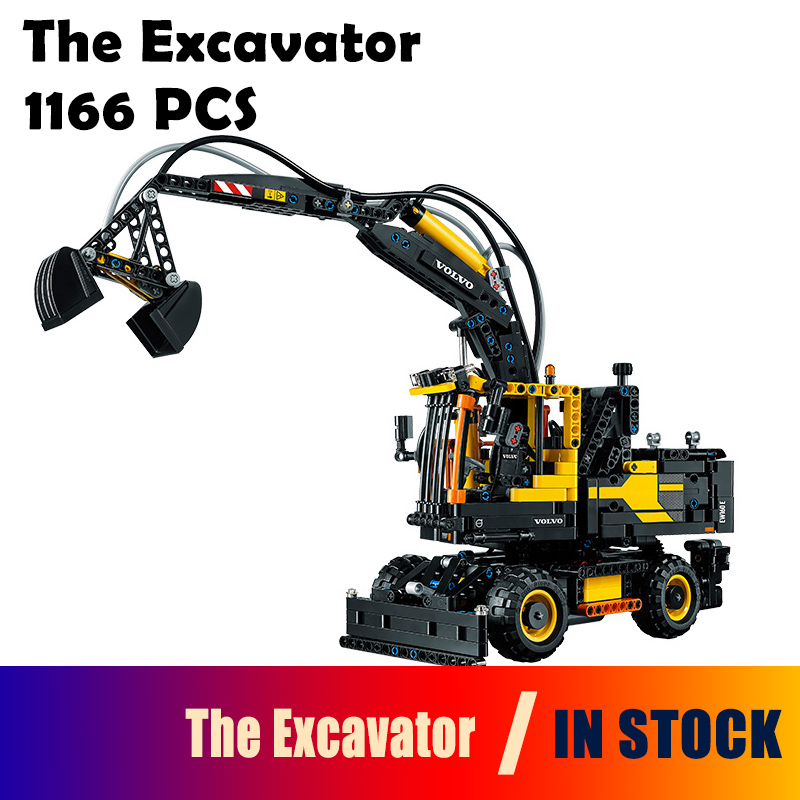 Compatible with Lego Genuine Technic 42053 Excavator toy 20023 1166pcs building blocks Figure bricks toys for children compatible with lego technic series 8052 20027 720pcs container truck building blocks figure bricks toys for children