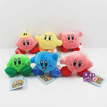 Free Shipping Cute Baby Toys Kirby Action Figures Pop Game Kirby Plush Toys For Children 6pcs/lot