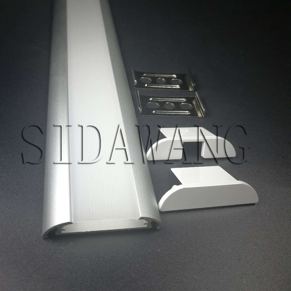 Aluminum Led Strip Profile Channel For Kitchen Cabinet Light Strip Sdw053 1000mm/piece 5meter To 100meter/pack