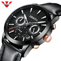 NIBOSI 2019 часы мужские модные спортивные кварцевые мужские часы, наручные часы брендовые роскошные кожаные деловые водонепроницаемые часы ...