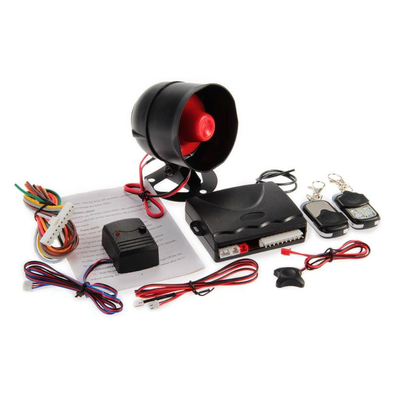 1-Way Car Alarm Security System Siren with 2 Remote