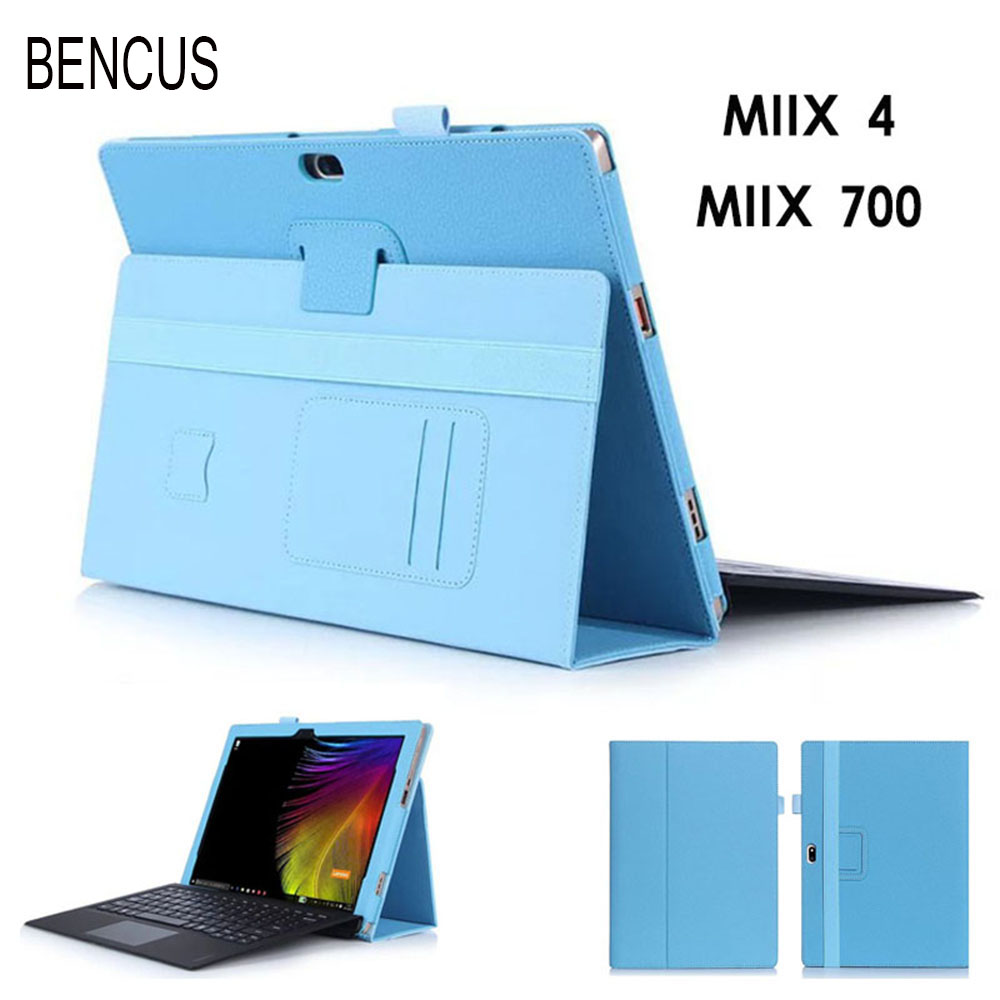 BENCUS For Lenovo ideapad MIIX 4 Luxury handrest PU leather stand case,MIIX 700 12 Tablet cover guard with card slots