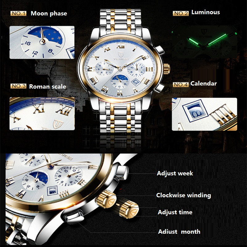 Men Watches Top Brand Luxury TEVISE Automatic Mechanical Watches Moon Phase Steel Clock Mens Wristwatches Relogio Masculino (11)