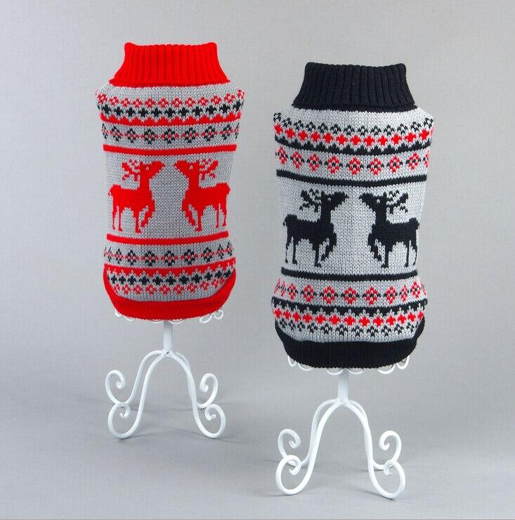 Новый рождественский олень крыначка любимчика теплый трикотаж кошка свитер перемычка пальто для фуршета маленький щенок собаки кошки x'mas одежда для собак