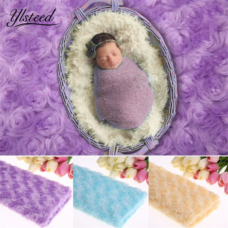 Baby photography blanket 3D rose floral background baby boy girls photo backdrop newborn photography props photo shoot props