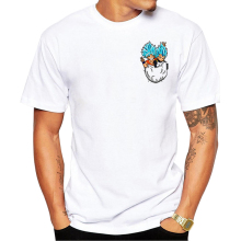 GOD Goku and Vegeta Pocket Squeeze Shirt Dragon Ball