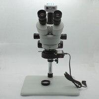 Trinokularnej mikroskop stereo 3.5X 90X ciągły Zoom powiększenie 20MP 1080 P 60FPS HDMI kamera USB duży stół warsztatowy światła LED w Mikroskopy od Narzędzia na