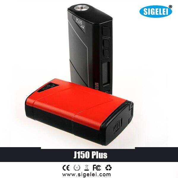 100% D'origine Sigelei e cigarette électronique J150 Plus Mod vaporisateur vaporisateur mod mod boîte électrique cigarette vaporisateur air vaporisateur