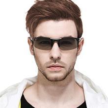 Photochromic Polarized Sunglasses Men Semi Rimless Sun Glasses Men Driving Sports Goggle Chameleon Change Color Shade 2019
