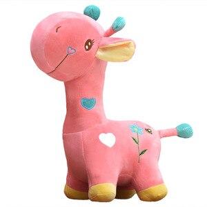Image 4 - Lalka żyrafa pluszowa zabawka jeleń poduszka poduszka dziecięca