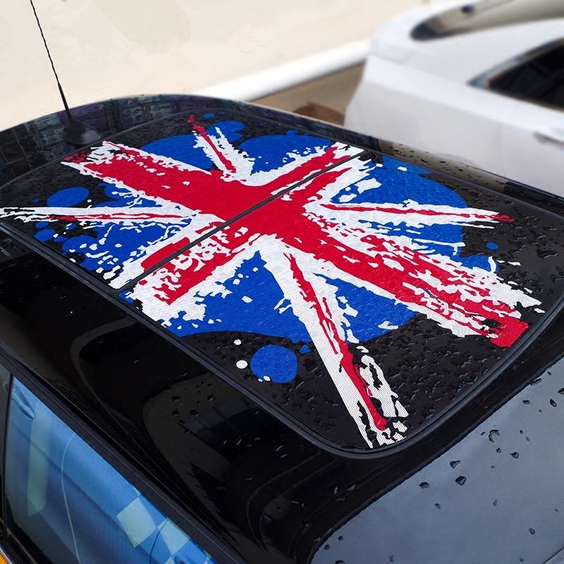 Lovely Car Top Roof Sticker Union Jack Cartoon Roof Decals for Mini Cooper F56 3 Door