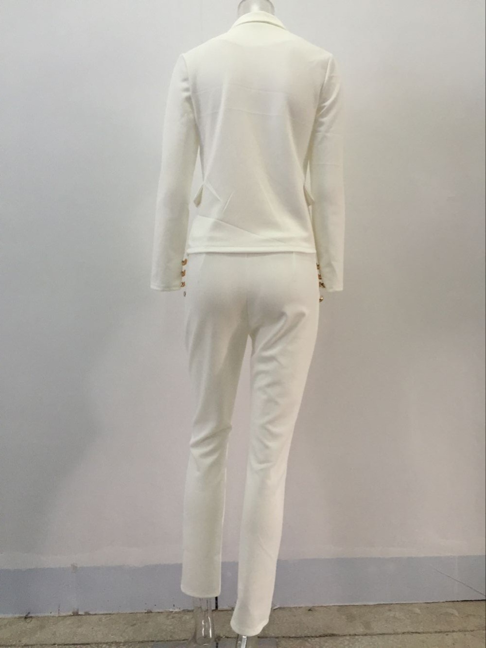 2 Piece Set Women Suit 17 New Formal Office Work Wear Blazer Jacket Tops And Skinny Pants Women Suits Two Piece Set 9