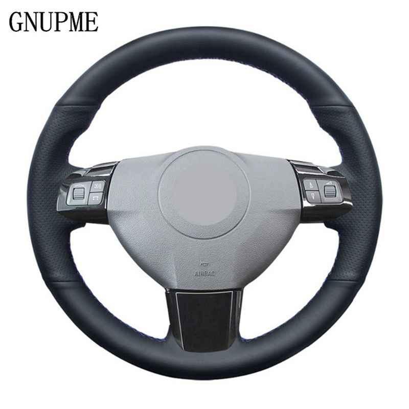 GNUPME negro DIY cubierta del volante de cuero Artificial del volante del coche para Opel Astra 2005 2006 opxhall Astra
