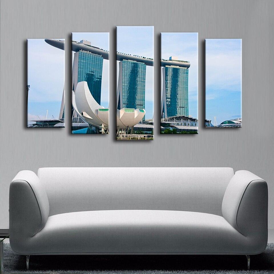 Φ_Φ5 unids reservación piscina Casino Singapur pintura de pared para ...